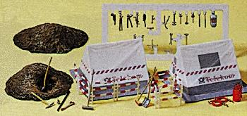 Preiser Telephone Construction Site Model Railroad Building Accessory HO Scale #17179