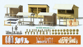 Preiser Medieval Fest Accessories HO Scale Model Railroad Road Accessory #17216