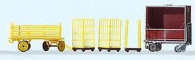 Preiser Transportation Carts German Post HO Scale Model Railroad Road Accessory #17702