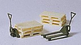 Preiser Military Pallet Jacks and Pallets Model Railroad Building Accessory HO Scale #18353