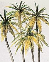 Preiser Kg Palm Trees pkg(4) -- Model Railroad Tree -- HO-Scale -- #18600