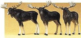 Preiser Moose (3) Model Railroad Figures HO Scale #20393