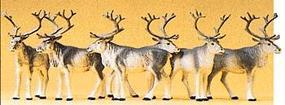 Preiser Reindeer (6) Model Railroad Figures HO Scale #20394