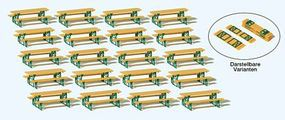 Preiser Beer Table Fitting Set (20) HO Scale Model Railroad Road Accessory #24707