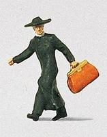 Preiser Priest in a Hurry - HO-Scale Model Railroad Figure HO Scale #28015