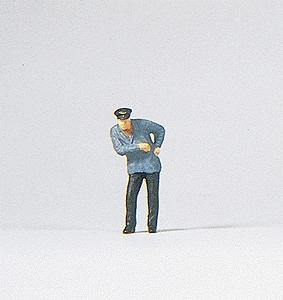 Preiser Kg Engineer -- Model Railroad Figure -- HO Scale -- #28038