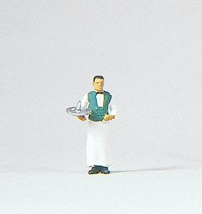 Preiser Waiter Model Railroad Figure HO Scale #28044