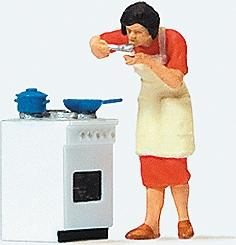 Preiser Tasting the Dinner Model Railroad Figure HO Scale #28137