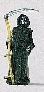 Preiser Kg Grim Reaper with Sickle -- Model Railroad Figure -- HO Scale -- #29004