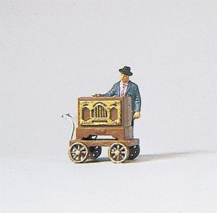 Preiser Barrel Organ Musician Model Railroad Figure HO Scale #29044