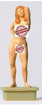 Preiser Kg Female Nude Model -- Model Railroad Figure -- HO Scale -- #29059