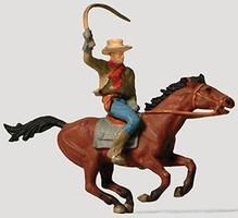 Preiser Cowboy on Horse Model Railroad Figure HO Scale #29065