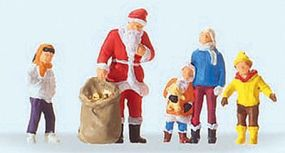 Preiser Santa Claus with Children Model Railroad Figure HO Scale #29098