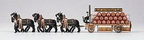 Preiser Beer Wagon with Horses Spatenbrau HO Scale Model Railroad Vehicle #30438