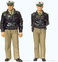 Preiser Post-War German Police with Green Uniform Model Railroad Figures G Scale #44900