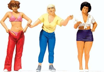 Preiser Women at Campsite Model Railroad Figures G Scale #44902