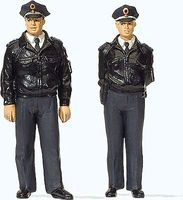 Preiser German Police with Blue Uniform Model Railroad Figures G Scale #44909