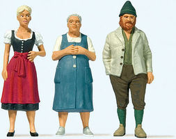 Preiser People in Bavarian Dress G Scale Model Railroad Figure #44921