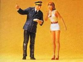 Preiser Girl & Station Clerk Model Railroad Figures G Scale #45001