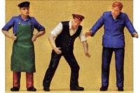 Preiser Delivery Men in Work Clothes Model Railroad Figures G Scale #45028