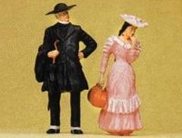 Preiser Pastor & Girl Model Railroad Figures G Scale #45054