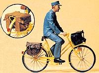 Preiser Postman On A Bicycle Model Railroad Figures G Scale #45069