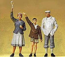 Preiser Waving People Model Railroad Figures G Scale #45084