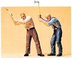 Preiser Wood Cutters with Axes Model Railroad Figures G Scale #45086