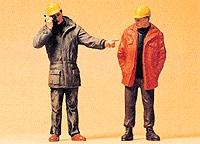 Preiser Kg Modern Workmen Standing -- Model Railroad Figures -- G Scale -- #45087