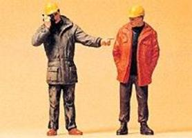Preiser Modern Workmen Standing Model Railroad Figures G Scale #45087
