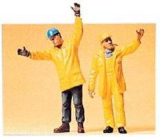 Preiser Modern Workmen Signaling Model Railroad Figures G Scale #45089