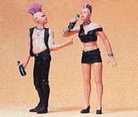 Preiser Punk Rockers Model Railroad Figures G Scale #45092