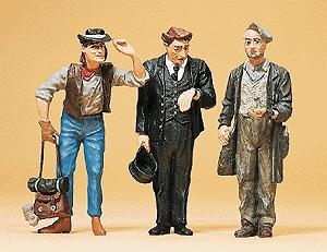 Preiser Railroad Conductor & Two Hobos Model Railroad Figures G Scale #45099