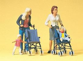 Preiser Women & Children with Strollers Model Railroad Figures G Scale #45114