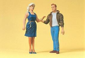 Preiser Passers-by Man & Woman Model Railroad Figures G Scale #45115