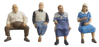 Preiser Seated Travellers #2 Model Railroad Figures G Scale #45122