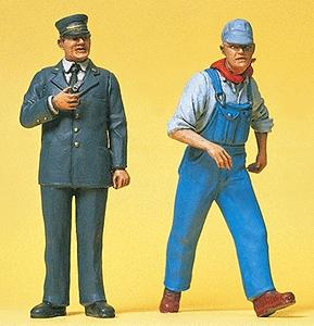 Preiser United States Railway Personnel Model Railroad Figures G Scale #45132