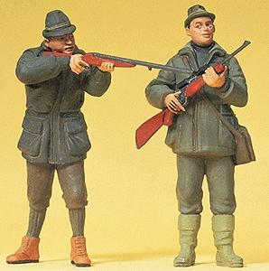 Preiser Standing Hunters Model Railroad Figures G Scale #45135