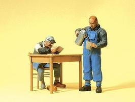 Preiser US Railway Personnel Model Railroad Figures G Scale #45140