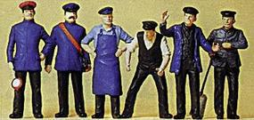 Preiser Railway Personnel Model Railroad Figures G Scale #45153