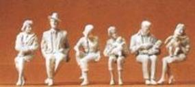 Preiser Seated Passengers Model Railroad Figures G Scale #45179