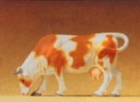 Preiser Cow Grazing with Head Down Model Railroad Figure 1/25 Scale #47000