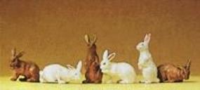 Preiser Domestic Animal Figures, 1/24 - 1/25 Scale Assorted Rabbits - 1/25 Scale (3)