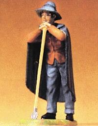 Preiser Standing Shepherd with Staff Model Railroad Figure 1/25 Scale #47100