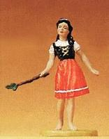 Preiser Farm Girl with Switch to Round Up Livestock Model Railroad Figure 1/25 Scale #47103