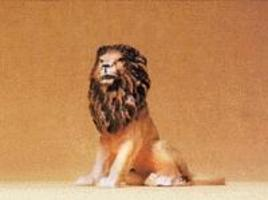 Preiser Lion Sitting Model Railroad Figure 1/25 Scale #47505