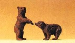 Preiser Brown Bear Cubs Model Railroad Figures 1/25 Scale #47518