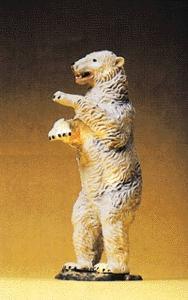 Preiser Kg Polar Bear Standing Upright -- Model Railroad Figure -- 1/25 Scale -- #47522
