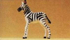 Preiser Zebra Foal Standing Model Railroad Figure 1/25 Scale #47530