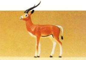 Preiser Standing Gazelle Model Railroad Figure 1/25 Scale #47539